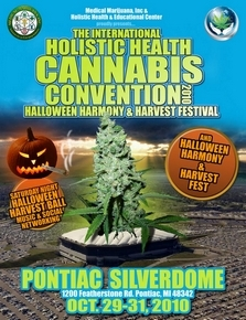 Flyer for Cannabis Convention in Pontiac, MI
